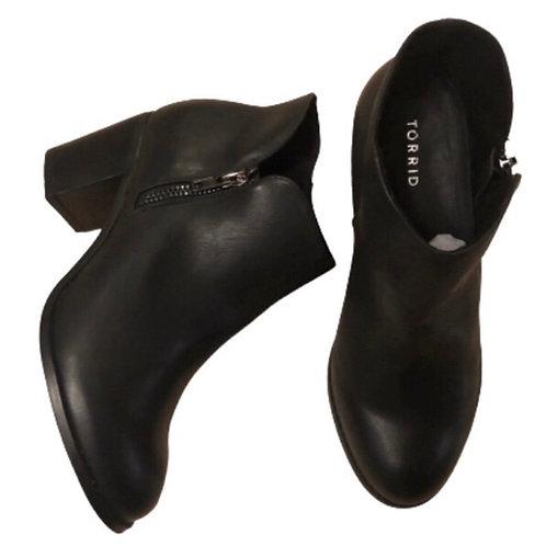 Torrid Black Faux Leather Bootie