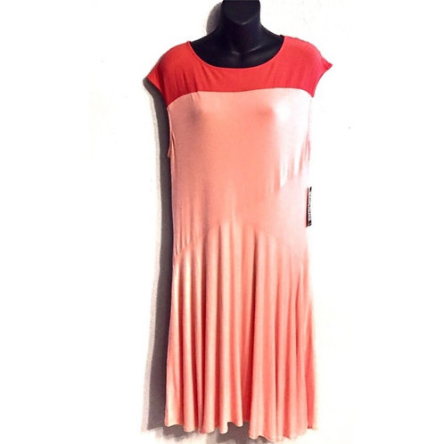 New York and Company Pink & Coral Fit and Flare