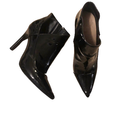 Zara Patent Leather Ankle Boot