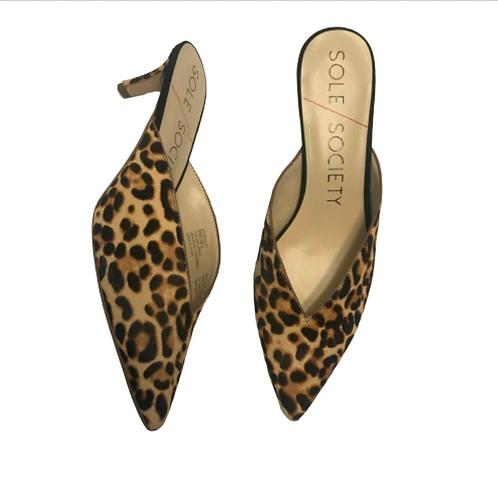 Sole Society Maleah Leopard Mule - Size 8