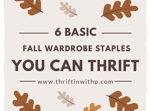 6 Basic fall Wardrobe staples you can thrift at any thrift store