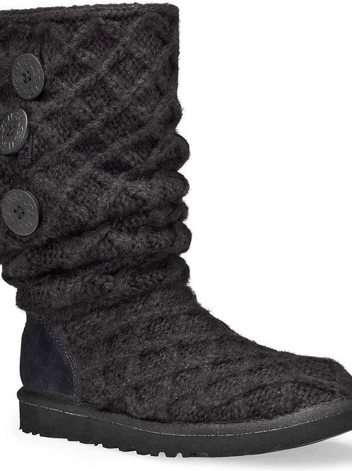UGG Women's Gray Lattice Cardy Boot