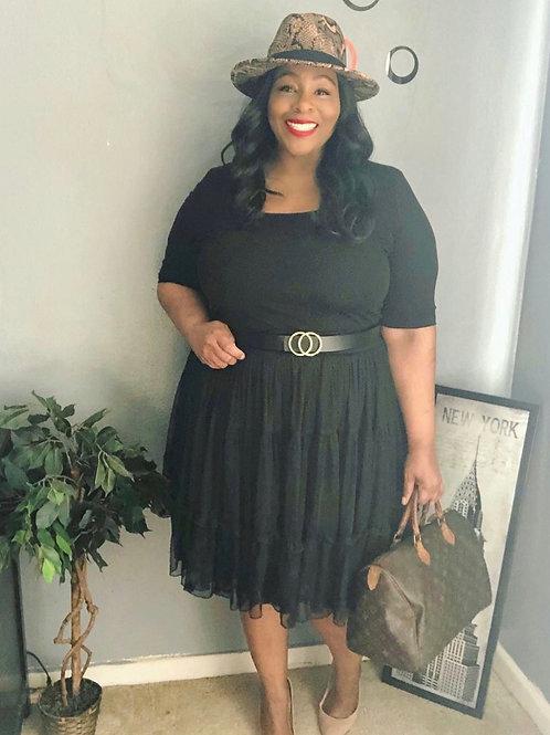 Lane Bryant Black Tulle Skirt