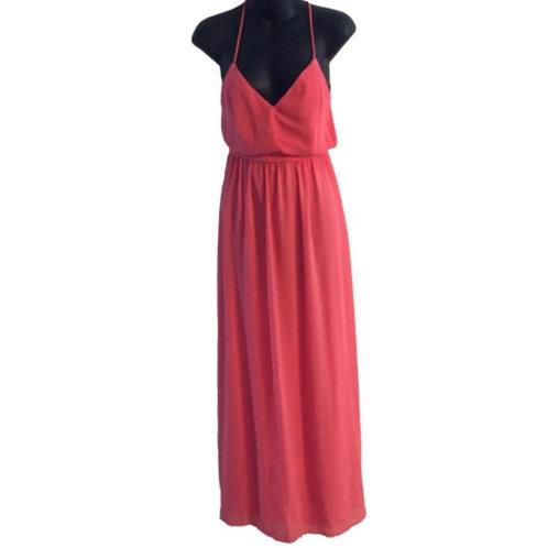 Lulu's Pink Maxi Backless Dress