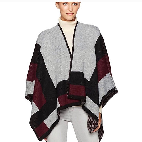 Vince Camuto Women's Colorblock Knit Poncho