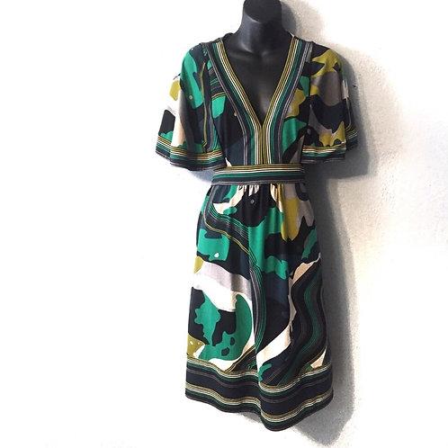 BCBG Max Azria Dolman Sleeve Printed Dress