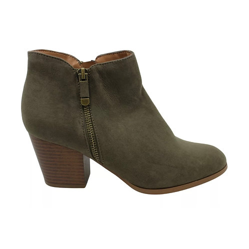 Style & Co. Green Almond Toe Ankle Boot