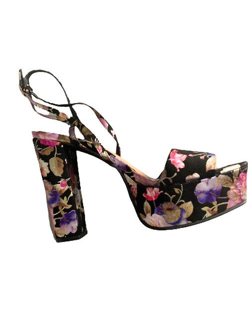 Platform Floral Heels