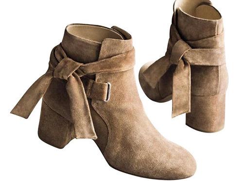 Rag & Bone Dalia Suede Tie Ankle Bootie