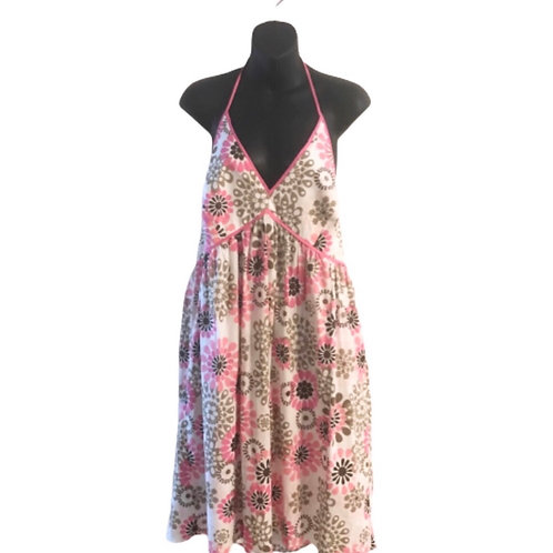 NY & Co Floral Pink Halter Dress