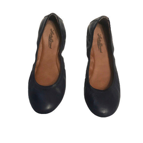 Lucky Brand Blue Leather Emmie Ballet Flat