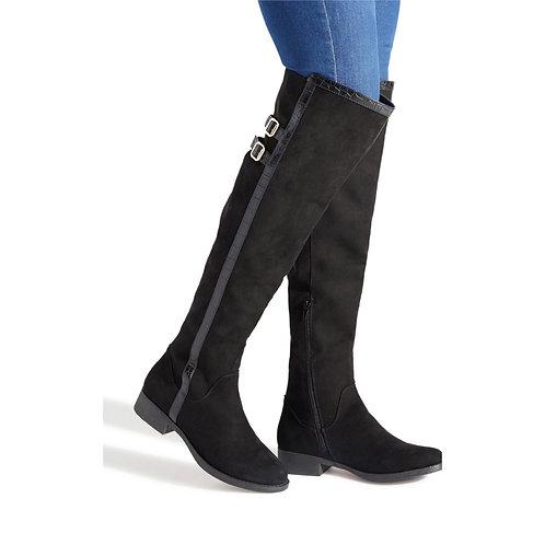 ShoeDazzle Coralie Double Buckle Boot