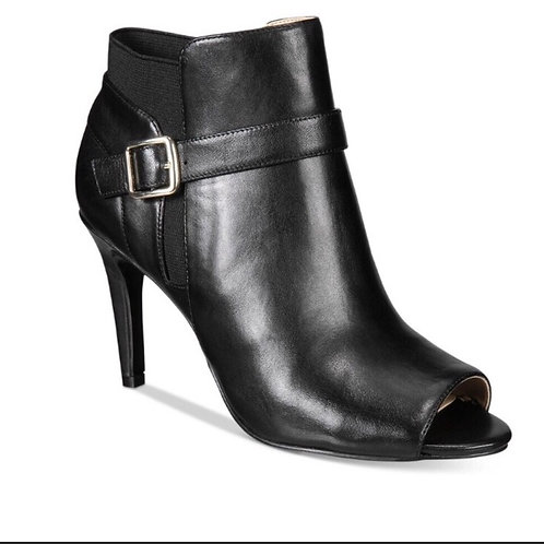Marc Fisher Shimmee Leather Open Toe Bootie