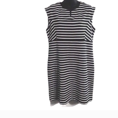 Attention Striped Black and White Dress.