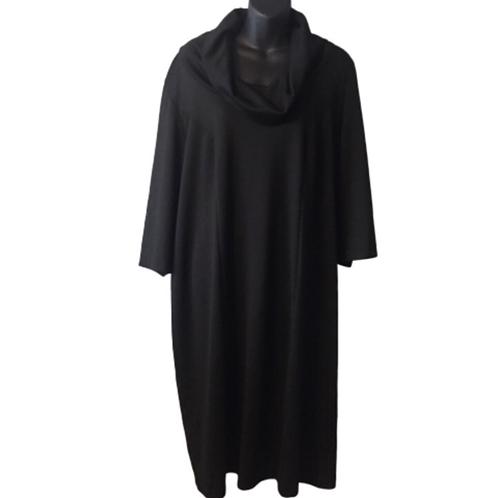 Lane Bryant Cowl Neck Black Dress