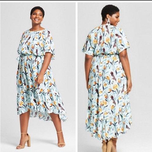 Ava & Viv Plus High Low Maxi Dress