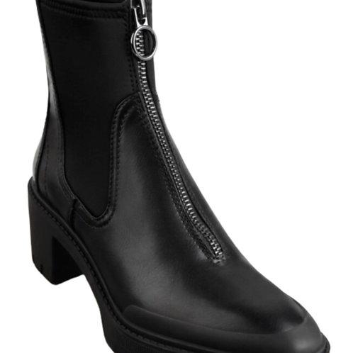 Zara Black Heel Ankle Boot