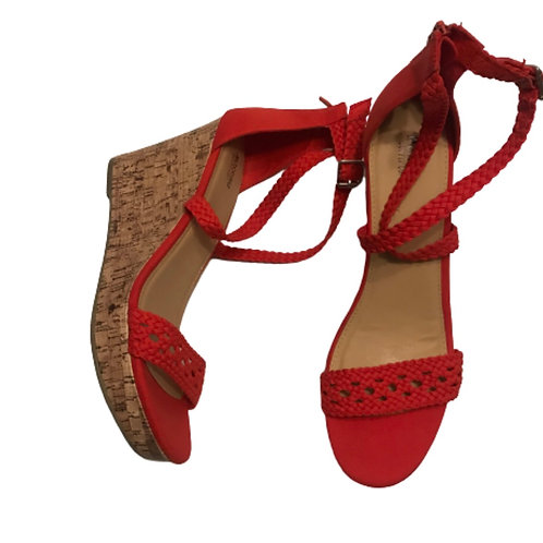 Mossimo Red Wedge Sandal