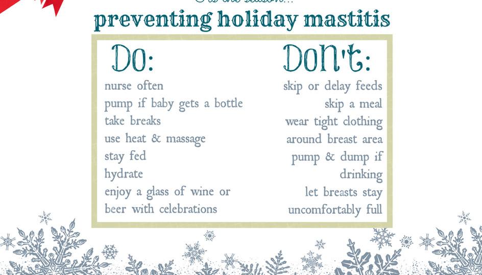 Holiday Mastitis Prevention