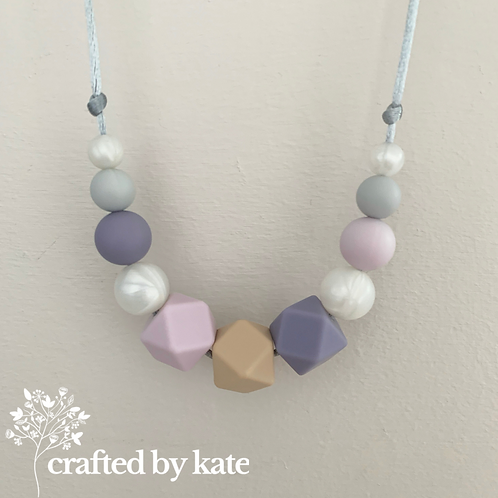 Lavender and oatmeal teething necklace