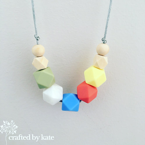 Bright summer teething necklace