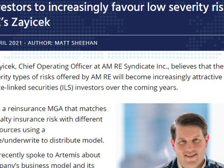 ILS investors to increasingly favour low severity risks: AM RE's Zayicek