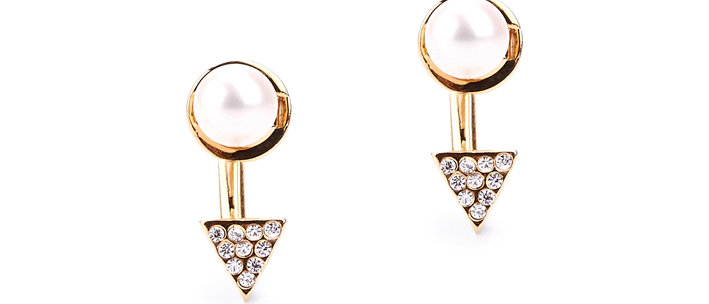 PYRAMID PEARL EARRINGS