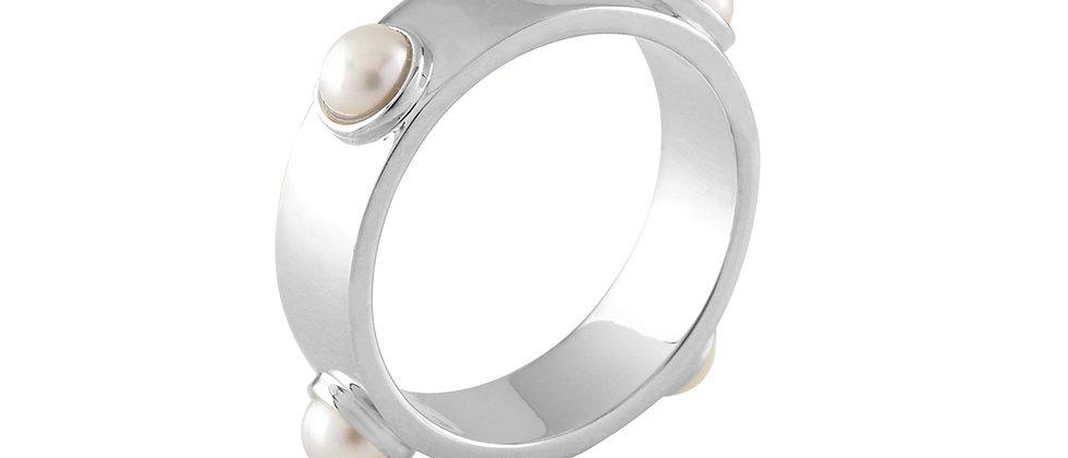 White Gold Embedded Ring