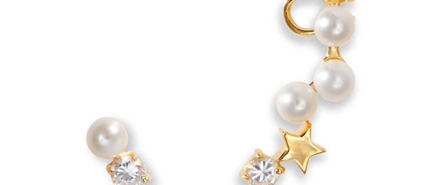 Star Pearl Earrings