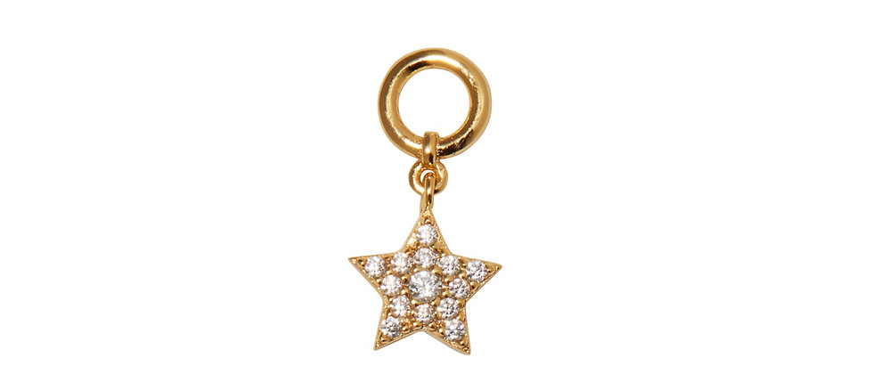 Paved Star Charm