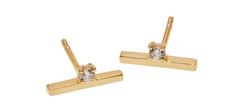 Balanced Diamond Ear Stud(s) | Available Single