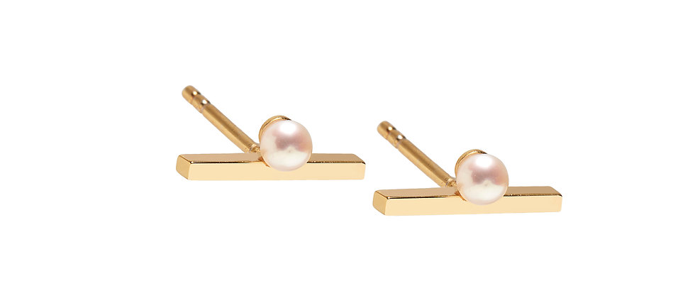 Balanced Pearl Ear Stud(s) | Available Single