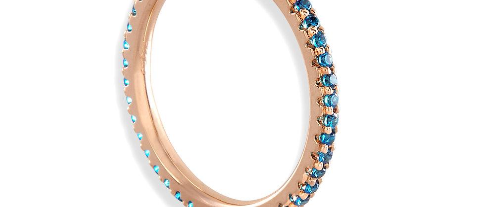 Eternity Ring - Capri Blue