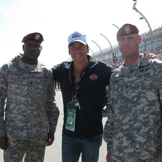 With heroes at Talladega