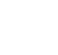 White Water Drop Circular Logo Badge for Leach Water Systems Humboldt County. Logo designed by Layla Ann Lugo