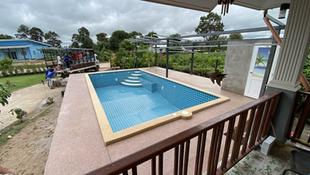 Above ground pool in Yasorton finish