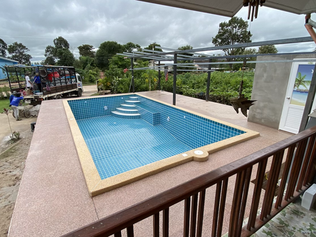 Above ground pool in Yasorton finish