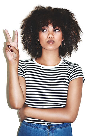Attractive Woman with Afro