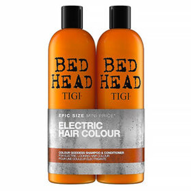 Bed Head goddess electric hair colour shampoo and conditioner twin pack