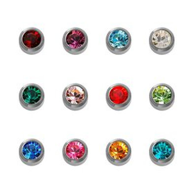 Caflon White Stainless Steel Assorted studs 12 pack