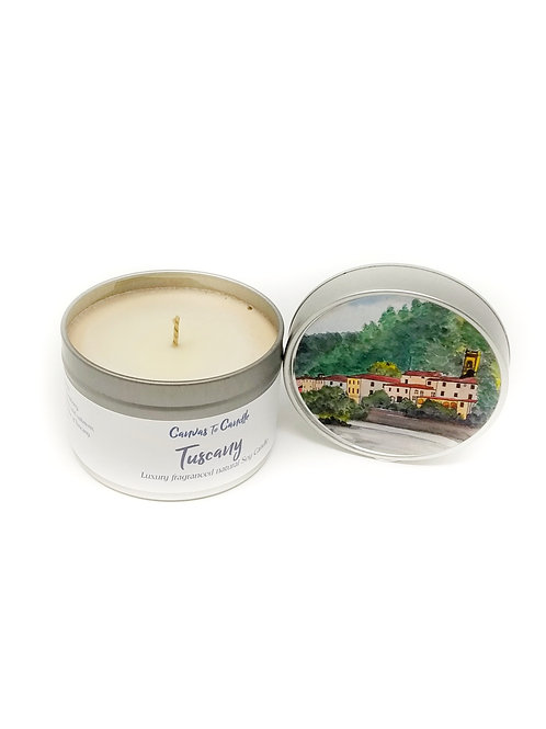 Tuscany in a Tin Soy Wax Candle