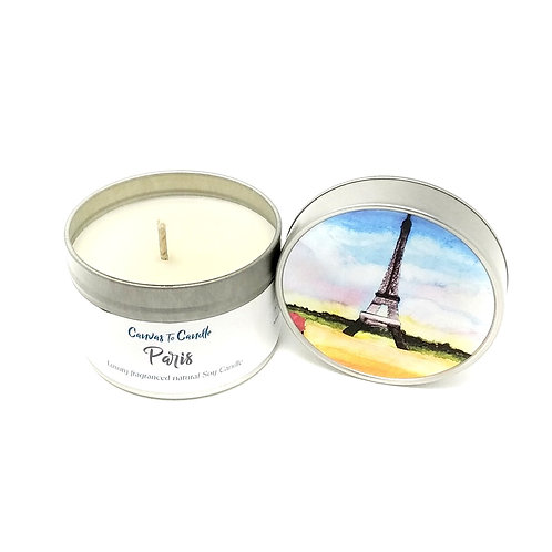 Paris in a Tin Soy Wax Candle