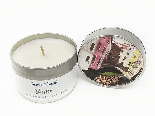 Venice in a Tin Soy Candle
