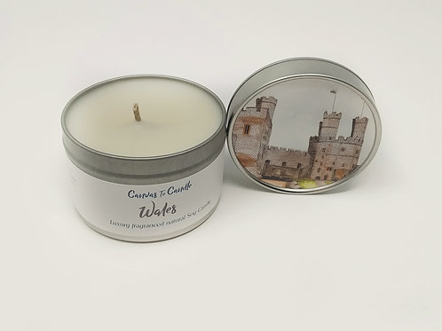 Wales in a Tin Soy Candle