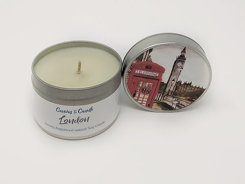 London in a Tin Soy candle
