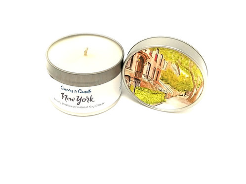 New York in a Tin Soy Candle