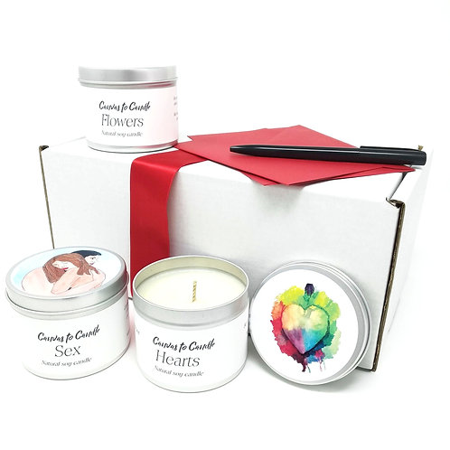 Lovers Candle Gift Set