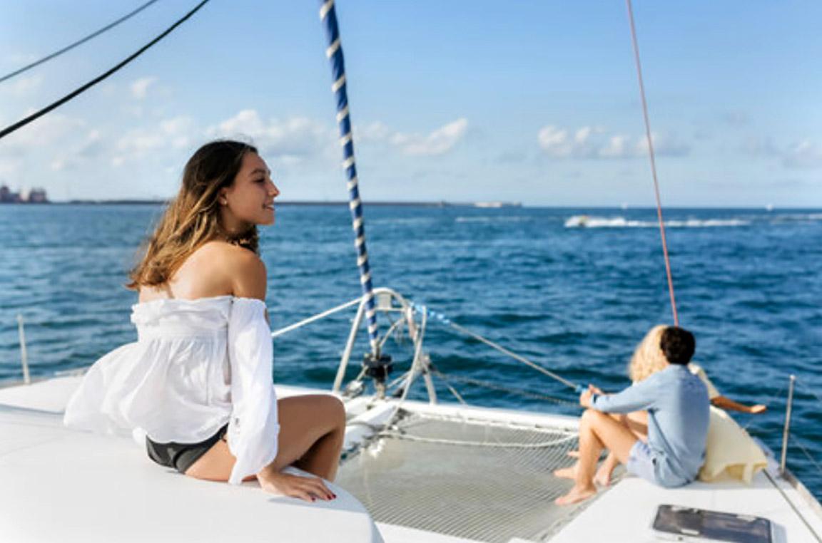 catamaran blue sky