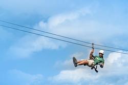 Gliding our 1,000 feet long zipline.