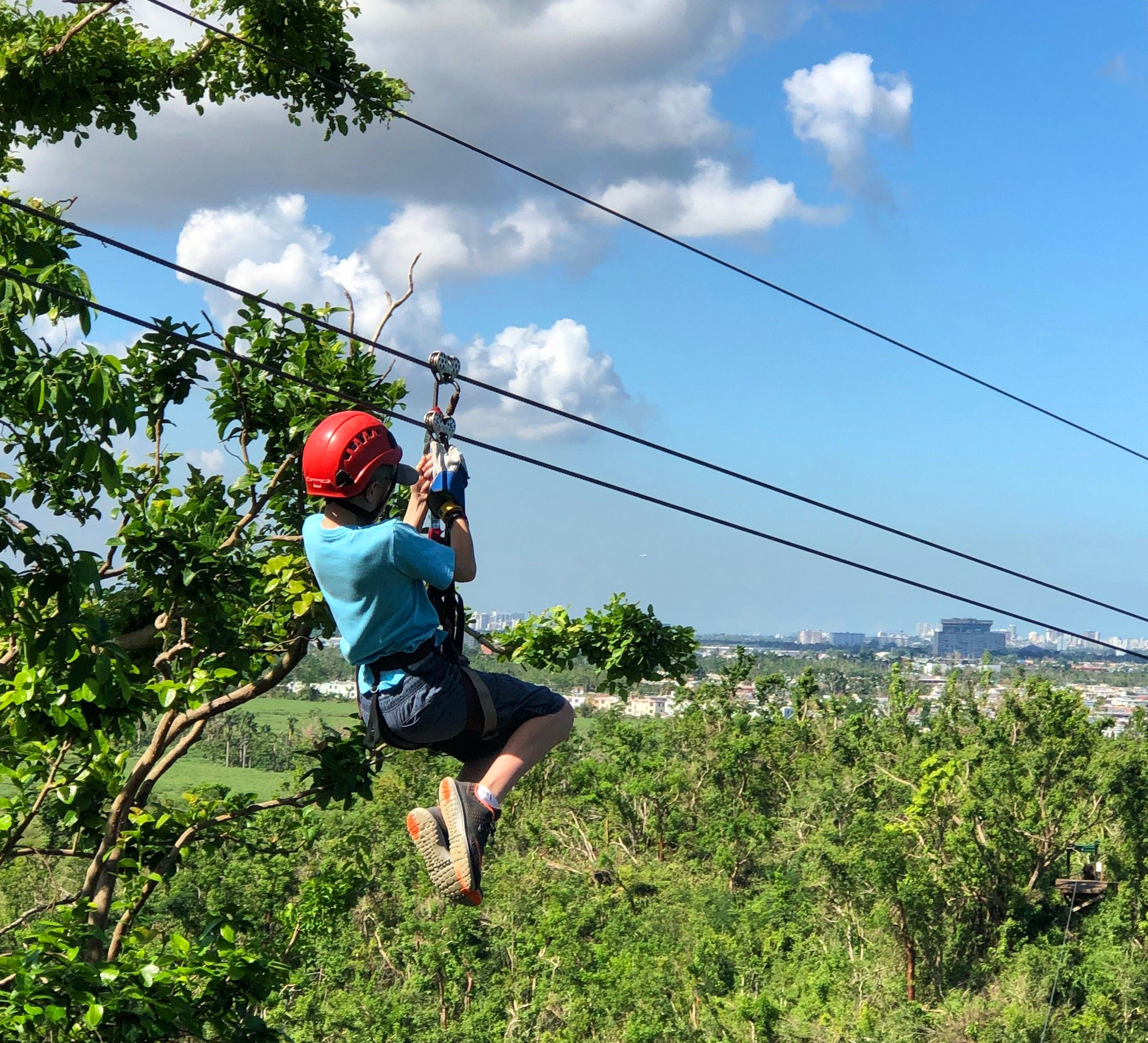 Kids LOVE ziplining!